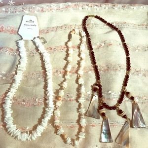 Jewelry - Three different shell necklaces